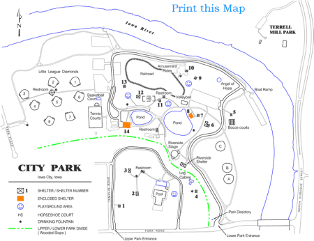 Iowa city ParkMap