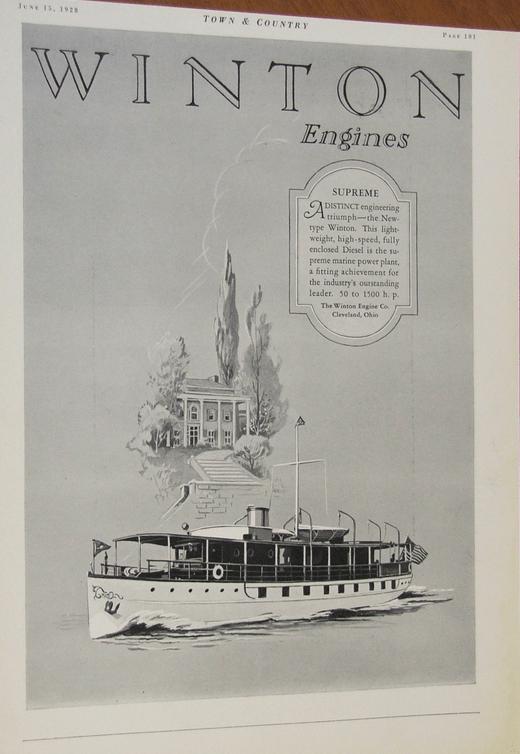 Winton Mrine engine 1928