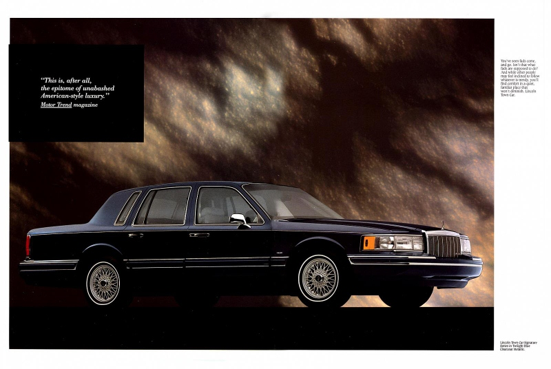 1991 lincoln town car owners manual