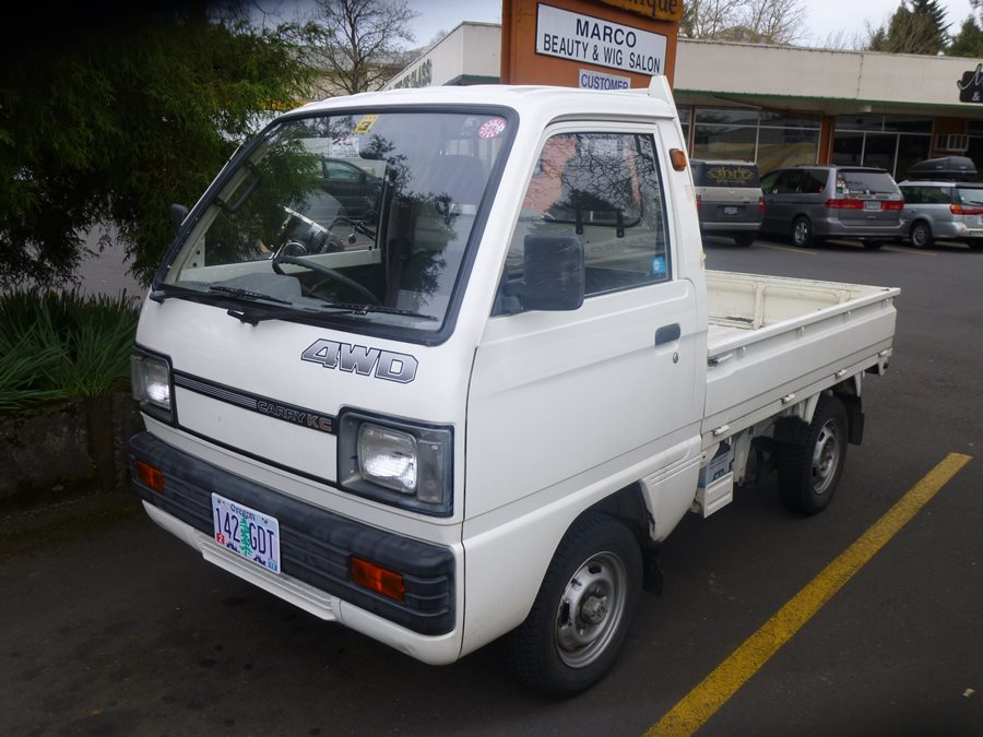 pretty tiny pickup truck. Curbside Classic  1986 Suzuki Carry KC 4WD The Kei sons Go Rolling Along