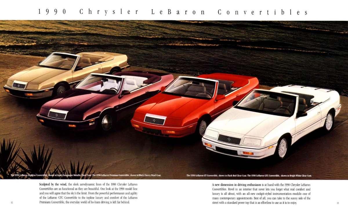 Cc capsule 1993 chrysler lebaron convertible apr s le k Les convertibles