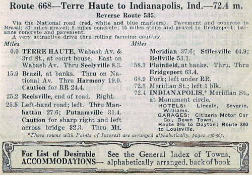 Page from the 1922 Automobile Blue Book, Vol. 4.