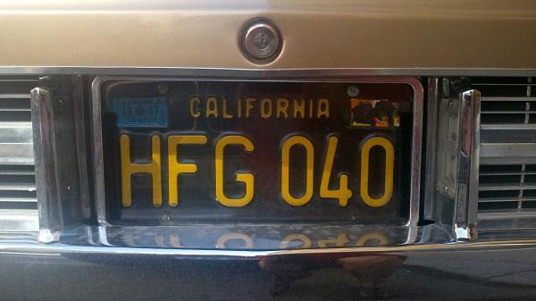 6 License plate