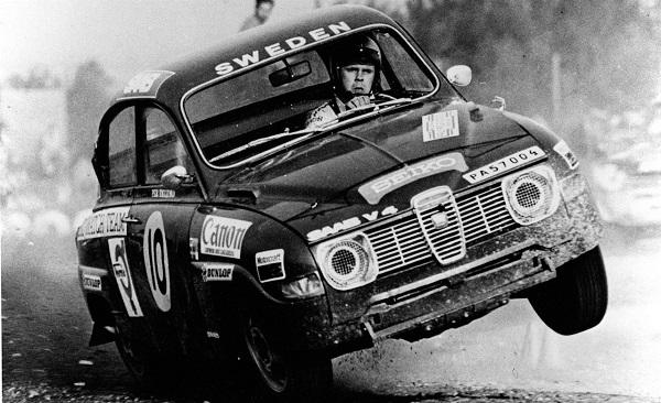 1962: Erik Carlsson wins the prestigious Monte Carlo Rally in a Saab 96.