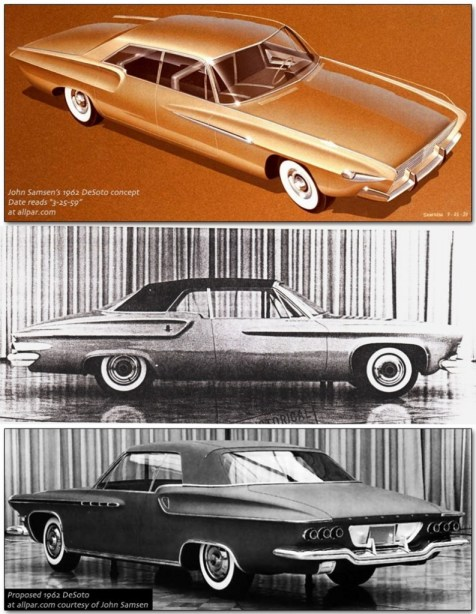 1962 DeSoto styling studies. Source of all photos: Allpar.com