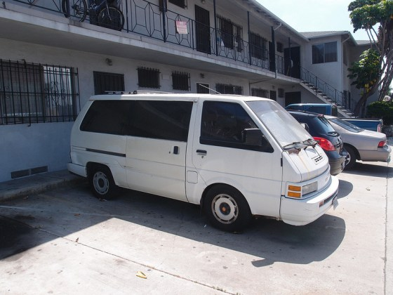 Nissan van side