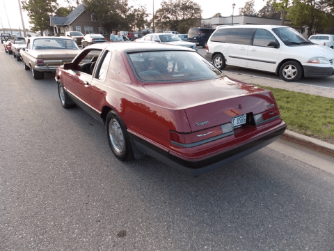 1986 Turbo Coupe in Medium Canyon Red Metallic