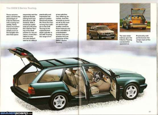 BMW 1995 Brochure E34 Touring