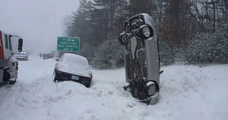 snow  car_ends_up_on_its_nose_following_snow_crash