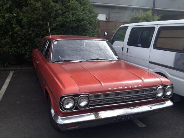 1965 Rambler Classic sedan red fr