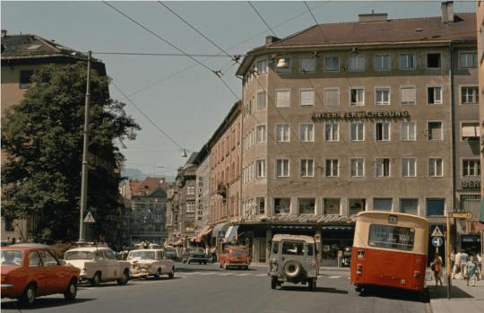 O-Bus Innsbruck Meraner Platz 1975