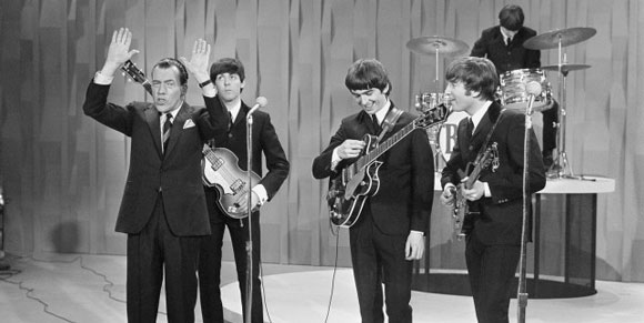 beatles with ed sullivan2