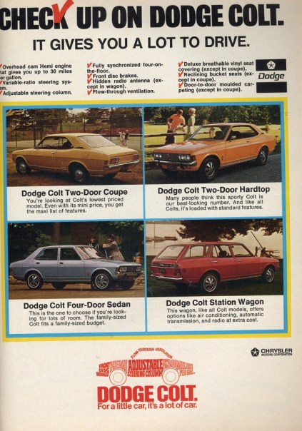 Dodge Colt ad 1