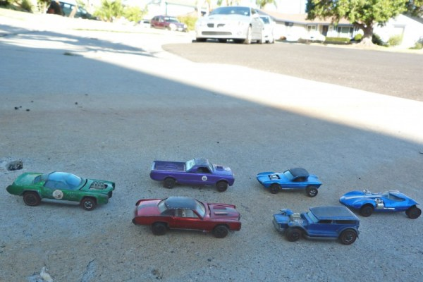 Redline Hot Wheels. Note the neighbor's son's GTO in the background