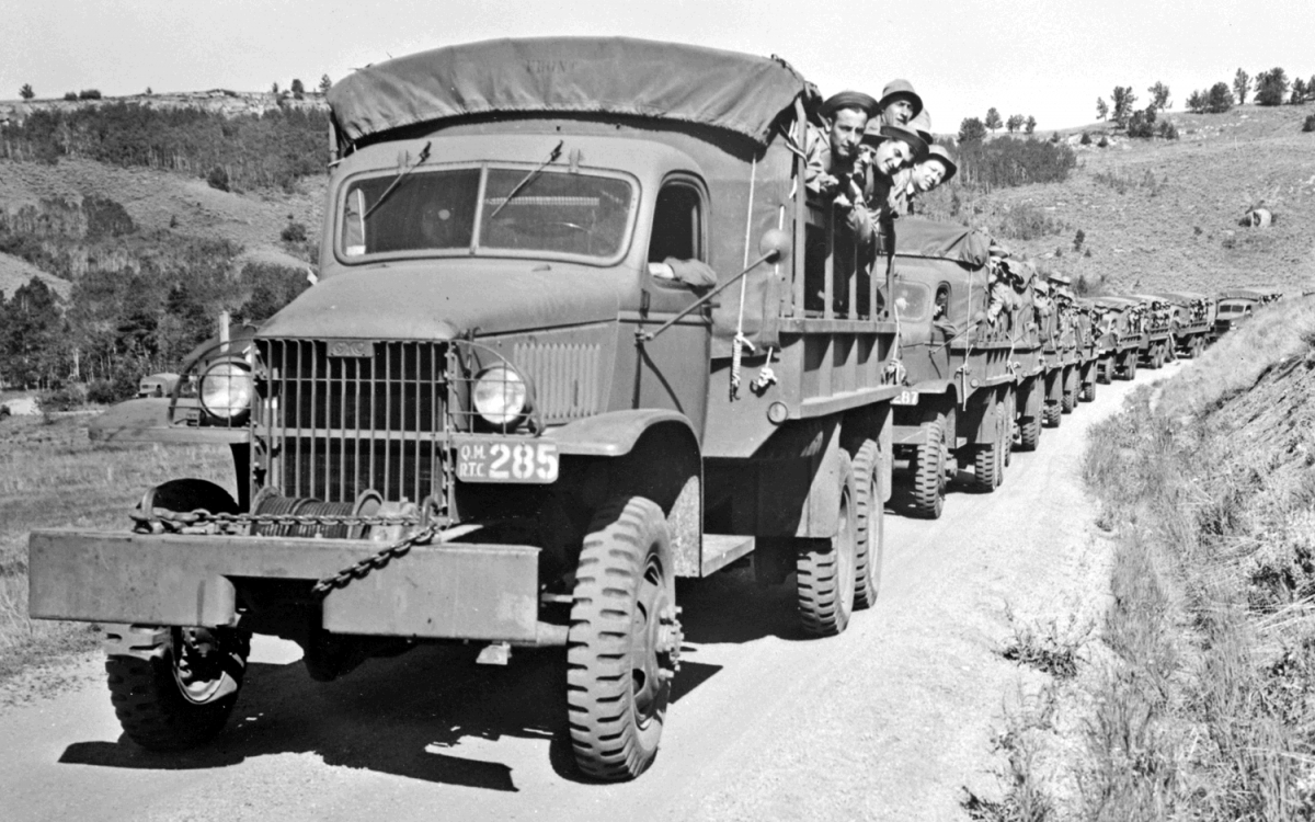 Dodge trucks in wwii - Curbside Classic 1944 Gmc Cckw 6 6 We Take The Famous Ww2 Deuce And A Half Jimmy Out For A High Speed Run With Video