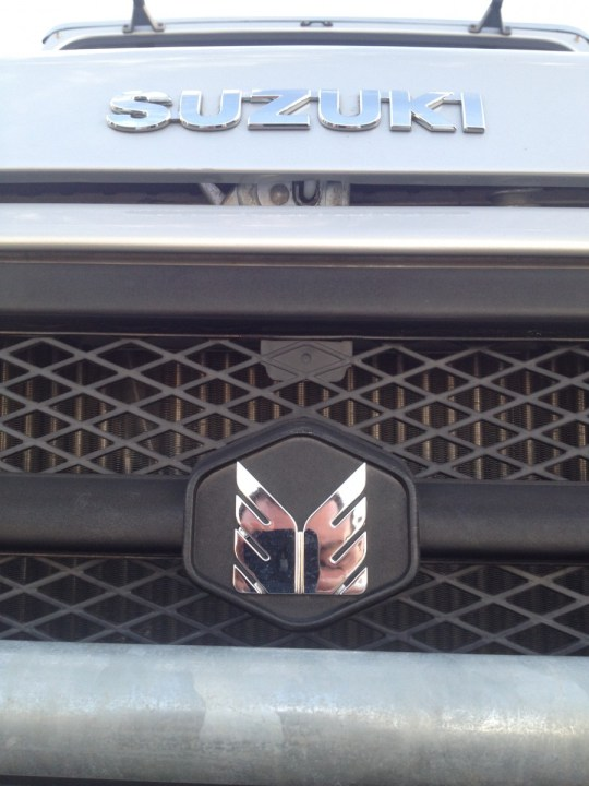 2014 Suzuki Farmworker with Suzuki badge and Maruti-Suzuki logo