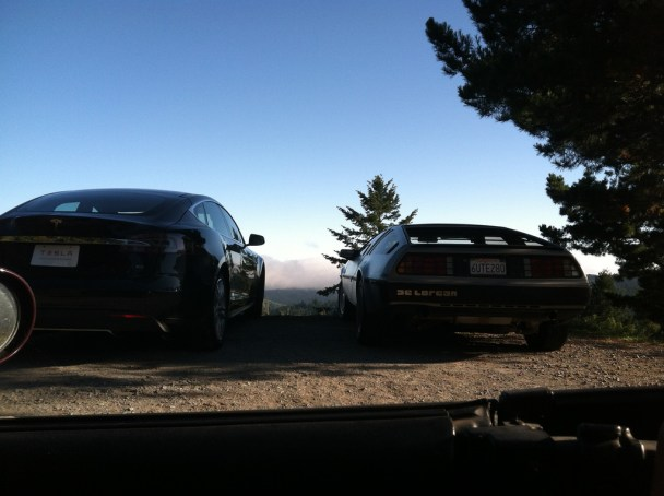 Tesla and DeLorean 1
