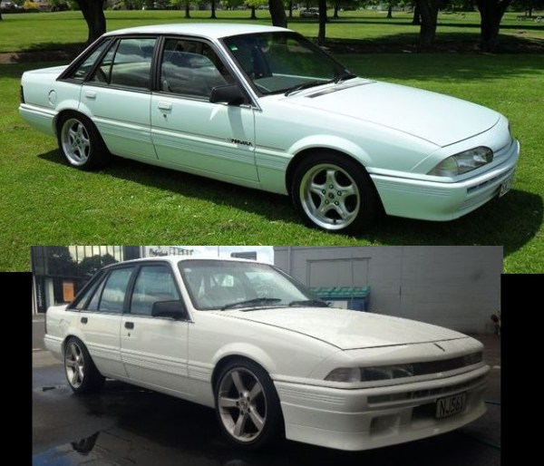 1987 VL HOLDEN Commodore (top), 1988 VL HOLDEN Calais front end (bottom)