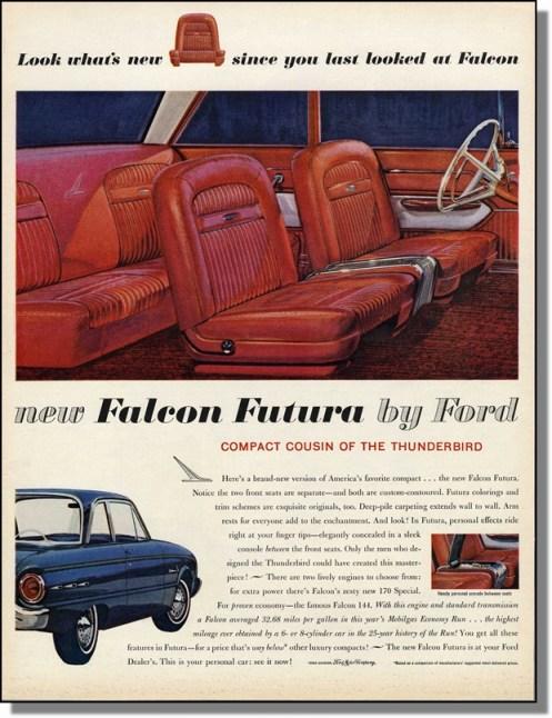 Ford Falcon Futura 1961 ad
