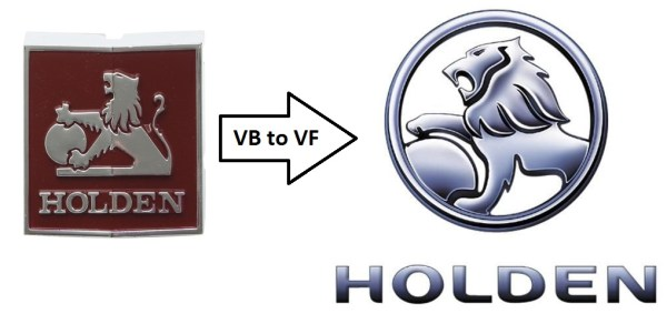 HOLDEN Commodore logos VB-VF