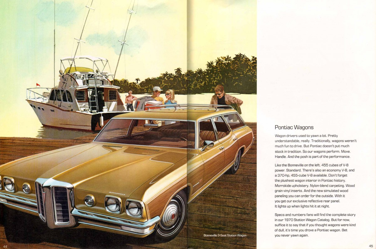 Cohort Classic 1970 Pontiac Executive Safari Our Kind Of Brown 1960 Bonneville Station Wagon Prestige Brochure 45 46