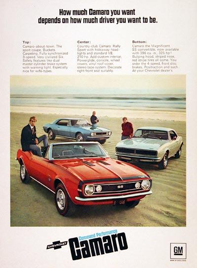Camaro 1967 advertisement