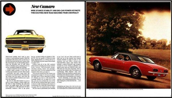 Camaro 1967 brochure 1