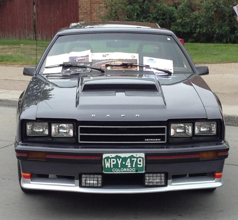 Mustang Svo Headlight Kit 84 85: Car Show Classic: 1984 Mercury Capri RS Turbo