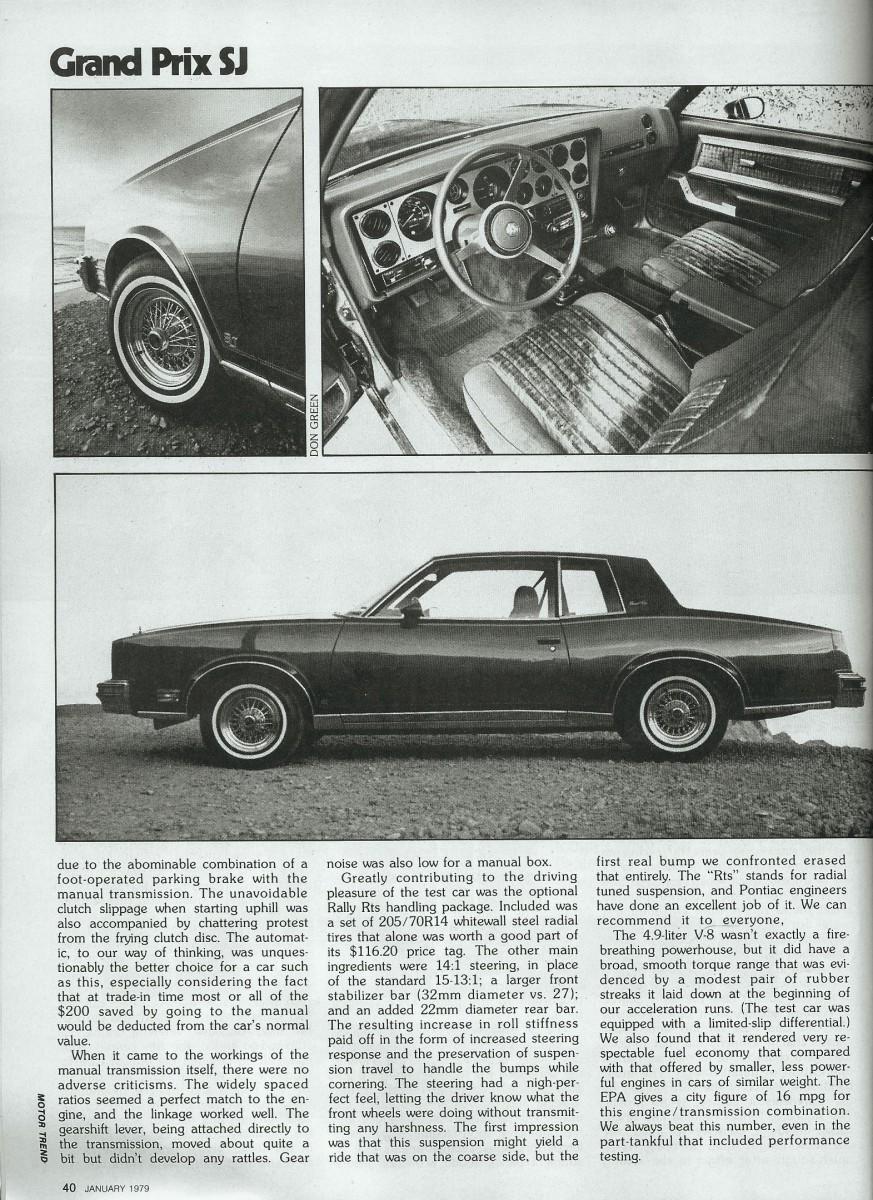 1979 Pontiac Grand Prix : pontiac, grand, Vintage, Review:, Pontiac, Grand, She's, Three-Oh-One, Curbside, Classic