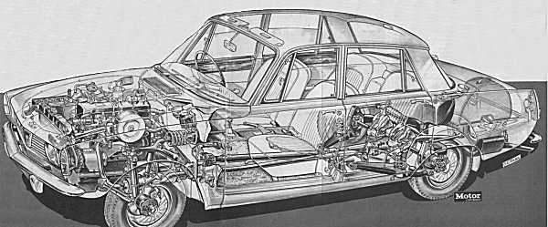 Rover P6 cutaway