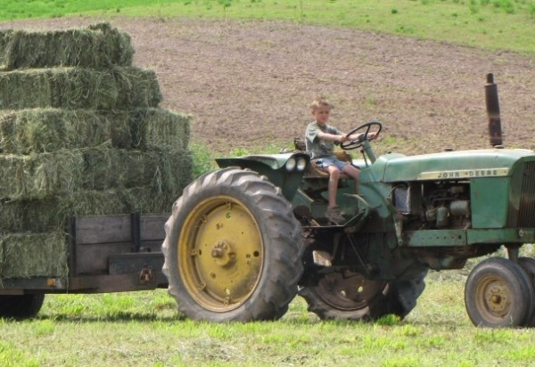 tractor kid