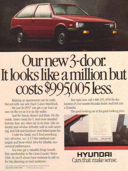 1986_Hyundai_Excel_3-door_-_4995