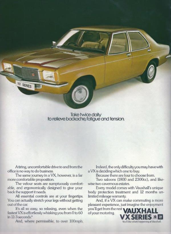 VX2300 FE Advert 1976