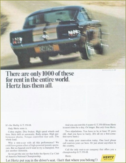 Shelby GT350H ad