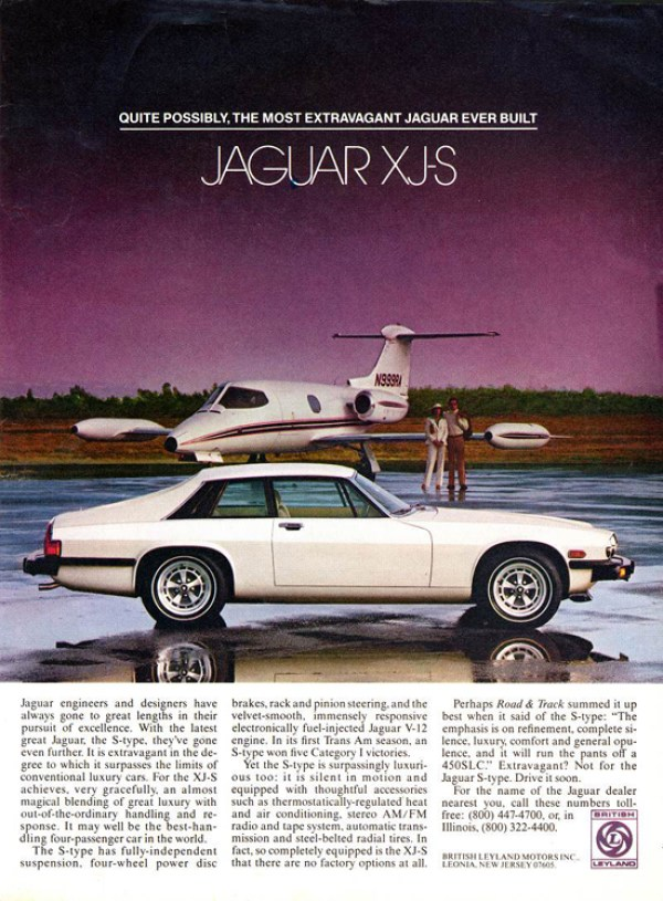 1977 jaguar xjs print ad magazine advertisement vintage