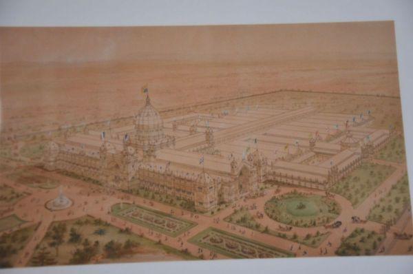 Exhibition building original configuration