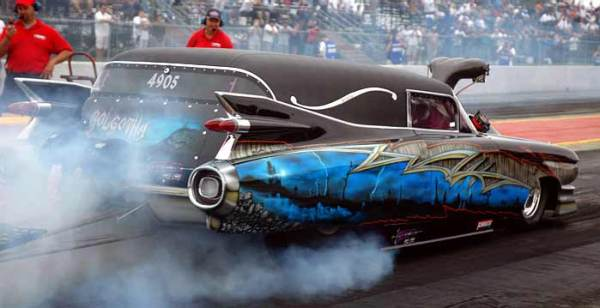 caddy 59 hearse dragster