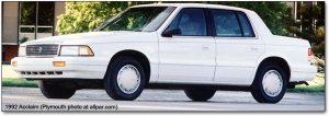 COAL: 1992 Plymouth Acclaim & 1991 Chrysler New Yorker