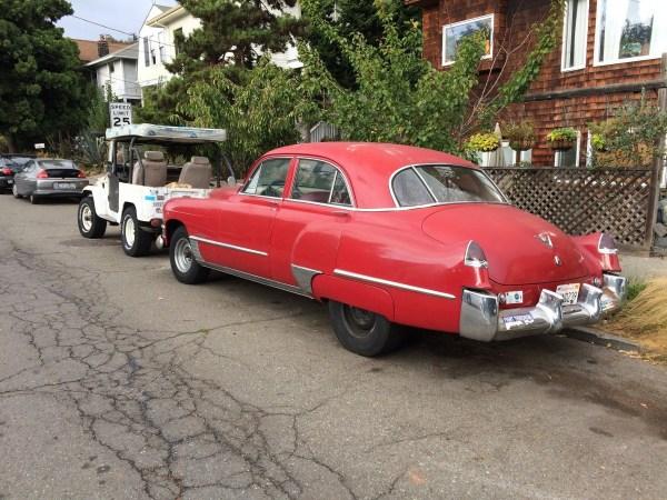 Cadillac 1949 and FJ rear