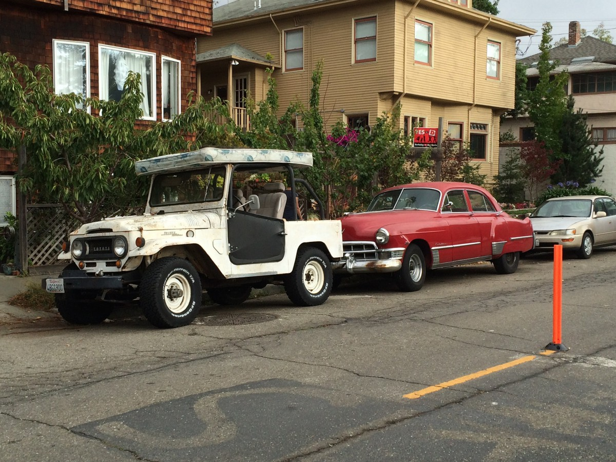 Cohort Outtake Toyota Fj And 1949 Cadillac Two Disparate Ccs In V8 Engine Berkeley One Of Them A Genuine Milestone Car