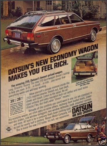 Datsun 210 wagon ad