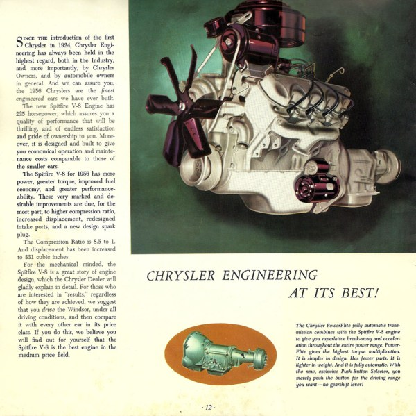 1956 Chrysler Windsor-engine