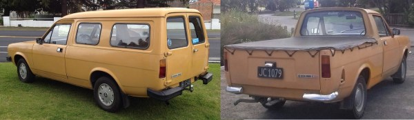 1980 MORRIS Marina van and ute orange bl