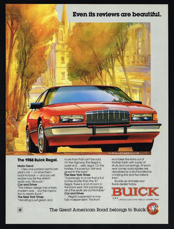 1988 Buick Regal Ad
