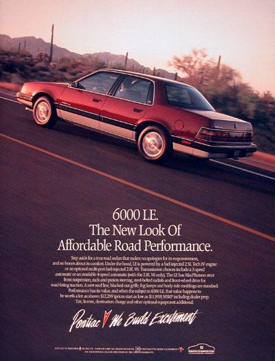 Pontiac 1989 6000 ad