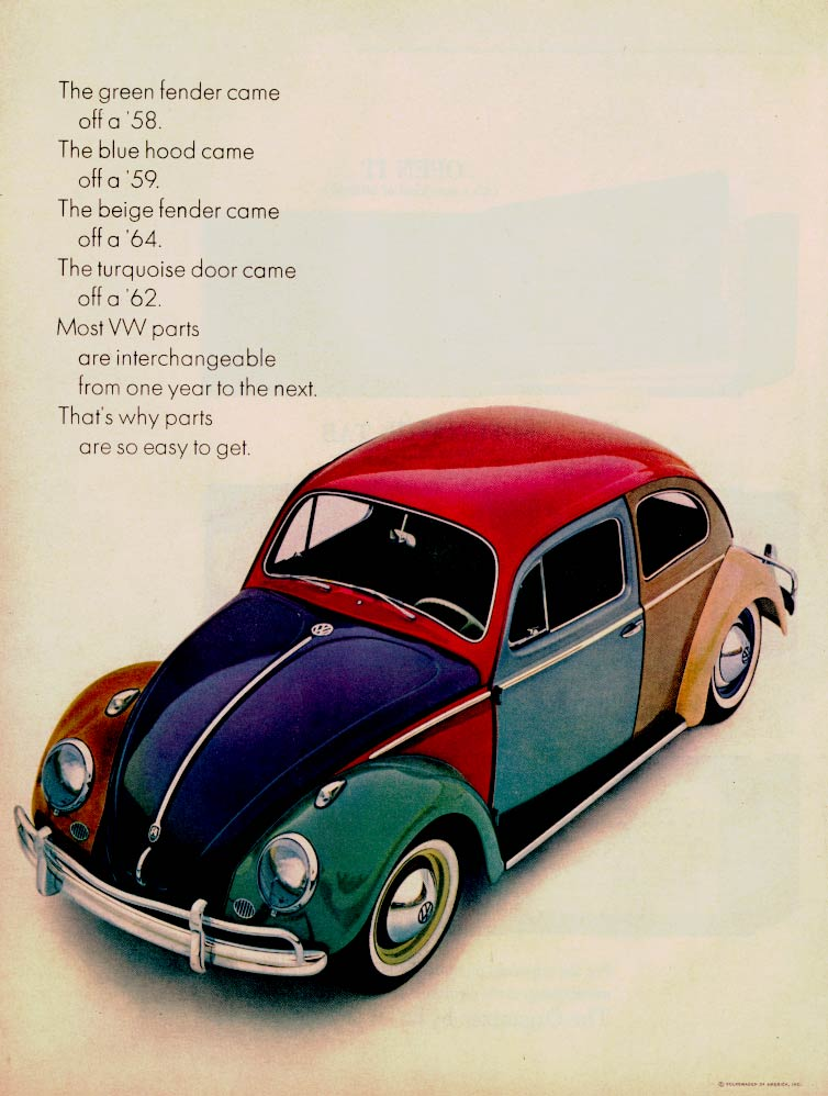 cc outtake vw beetle harlequin   factory version