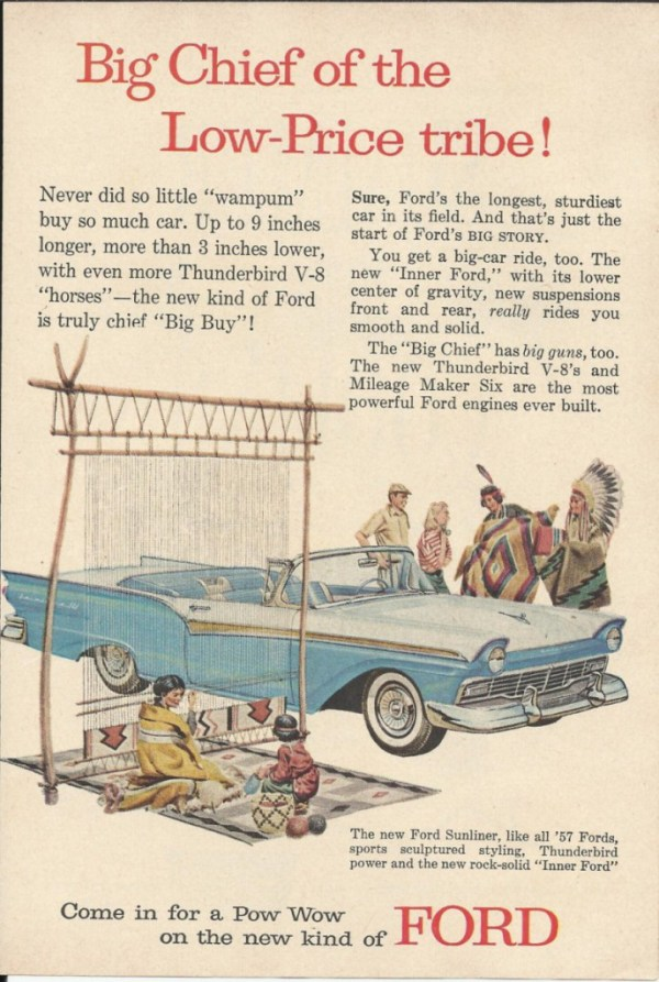 vintage 1957 Ford ad