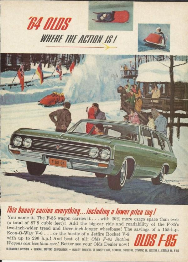 vintage 1964 Oldsmobile ad