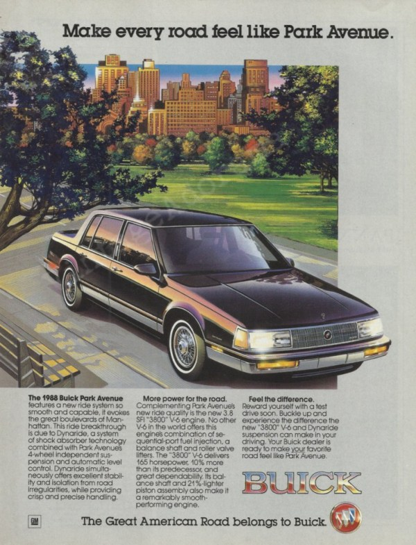 1988 Buick Park Avenue ad