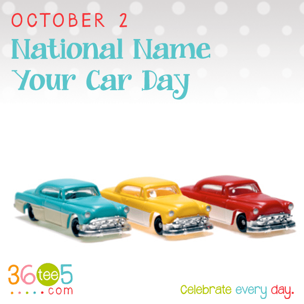 NationalNameYourCarDay